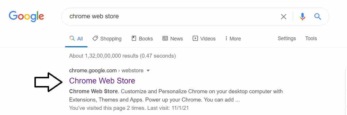 how to open chrome web store